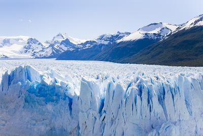 Deep Blue Cracks Line the Front Wall of the Perito Moreno Glacier-Mike Theiss-Photographic Print