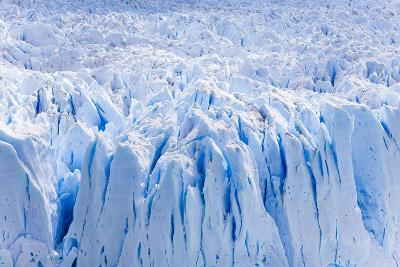 Deep Blue Cracks on the Front Wall of the Perito Moreno Glacier-Mike Theiss-Photographic Print