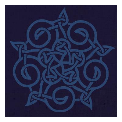 Deep Blue Kolidescope-Melody Hogan-Art Print