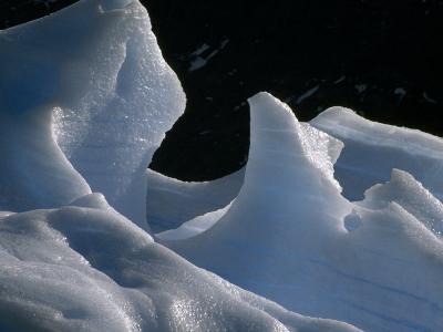 Deep Blue Pressure Veins Run Through an Iceberg Near Glacier Grey-Jason Edwards-Photographic Print