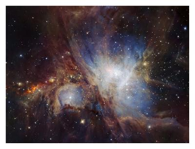 Deep infrared view of the Orion Nebula from HAWK-I-ESO-Art Print