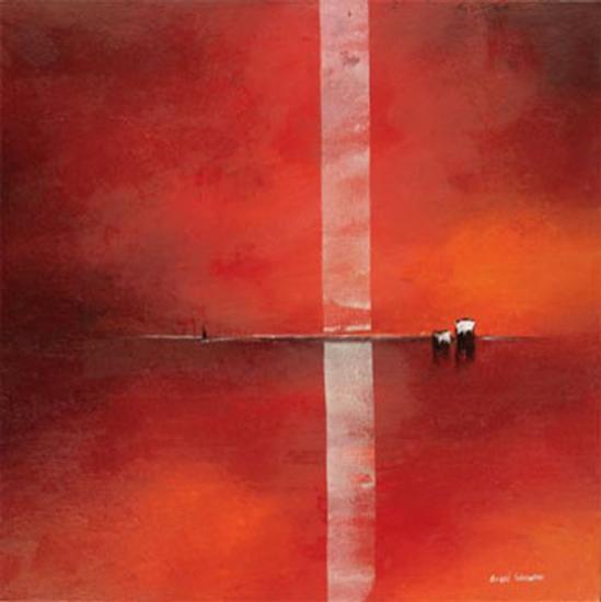 Deep Red I-Andre Schrooten-Art Print