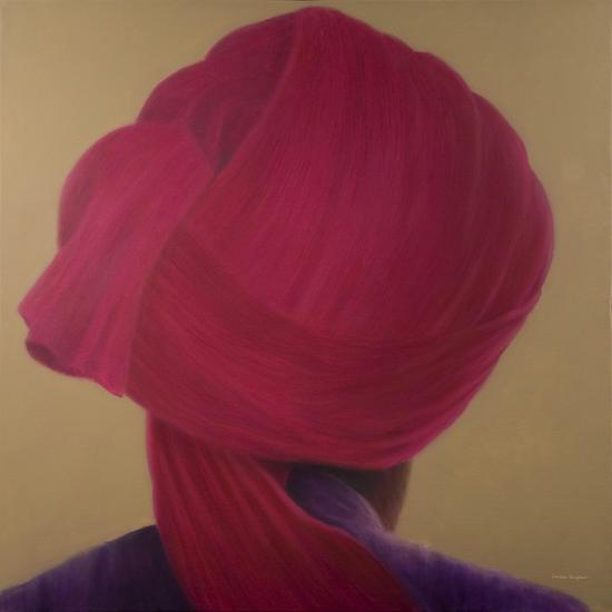Deep Red Turban, Purple Jacket-Lincoln Seligman-Giclee Print
