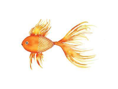 Deep Sea Yellow Fish-Sara Berrenson-Art Print