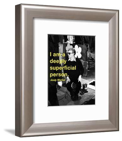 Deeply Superficial-Billy Name-Framed Art Print