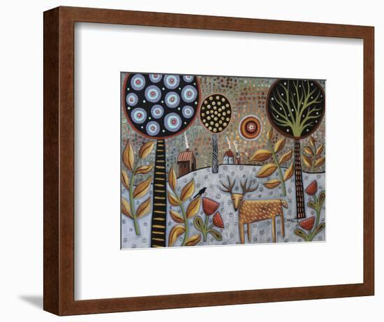 Deer and Bird 1-Karla Gerard-Framed Giclee Print
