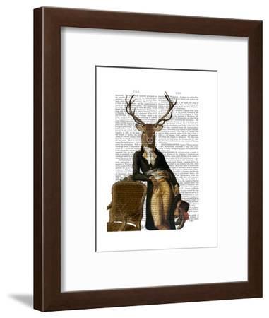 Deer and Chair Full-Fab Funky-Framed Art Print