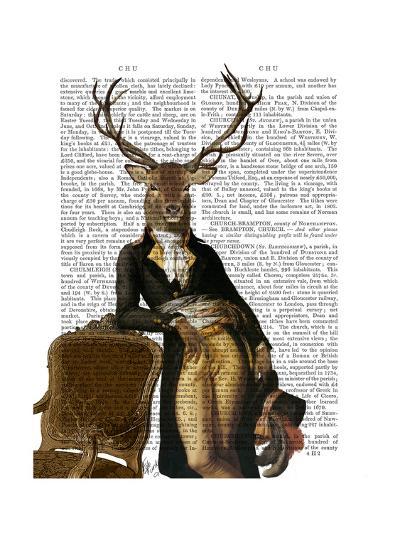 Deer and Chair Full-Fab Funky-Art Print