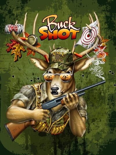 Deer Buck Shot-Jim Baldwin-Art Print