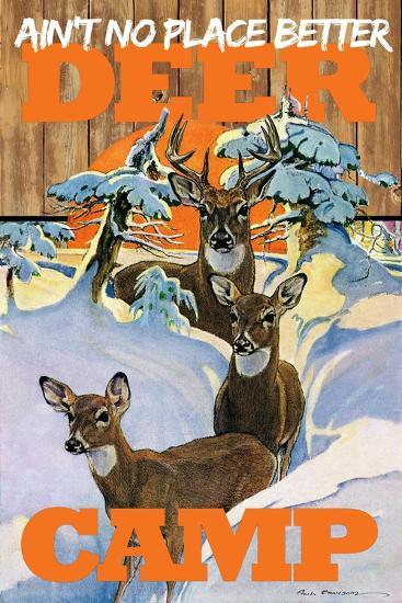Deer Camp--Giclee Print