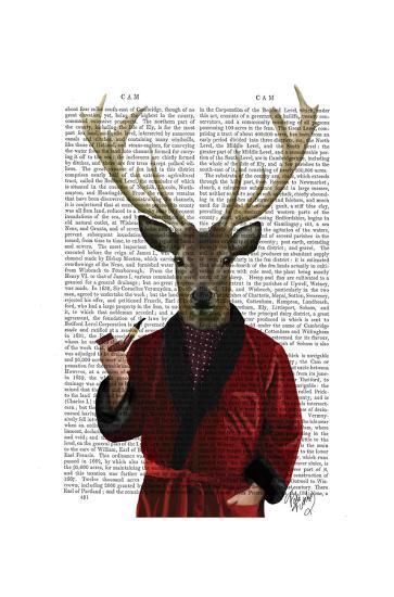 Deer in Smoking Jacket-Fab Funky-Poster