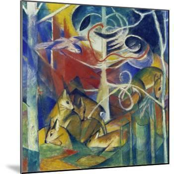 Deer in the Forest I, 1913-Franz Marc-Mounted Giclee Print