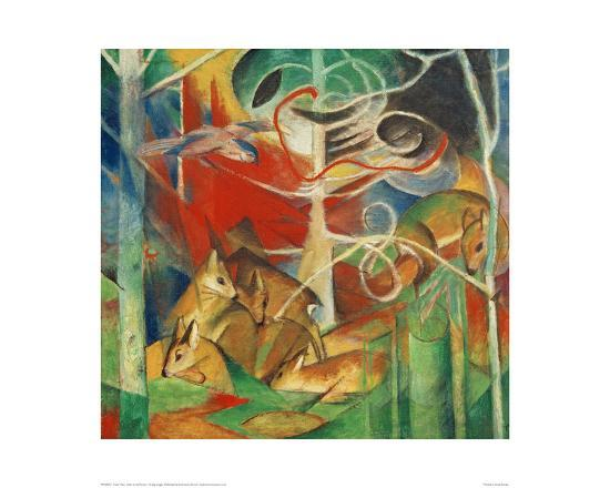 Deer in the Forest I-Franz Marc-Giclee Print