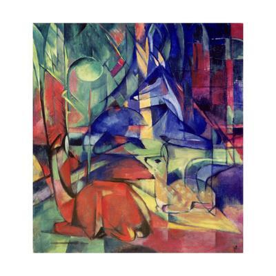 Deer in the Forest II, 1914-Franz Marc-Giclee Print