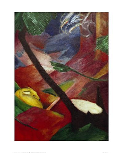 Deer in the Forest II-Franz Marc-Giclee Print