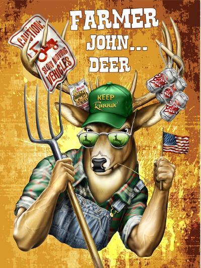 Deer John Deer-Jim Baldwin-Art Print