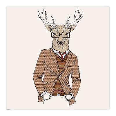 Deer-man 1-GraphINC-Art Print