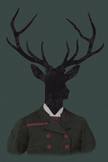 Deer Man-Clara Wells-Giclee Print