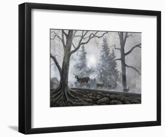 Deer Path I-B. Lynnsy-Framed Art Print