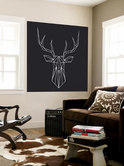 Deer Polygon-Lisa Kroll-Wall Mural
