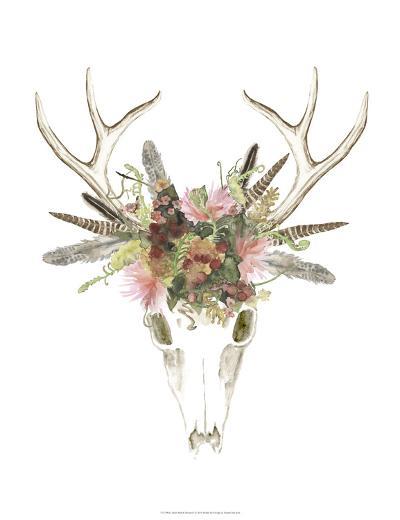 Deer Skull & Flowers I-Naomi McCavitt-Art Print
