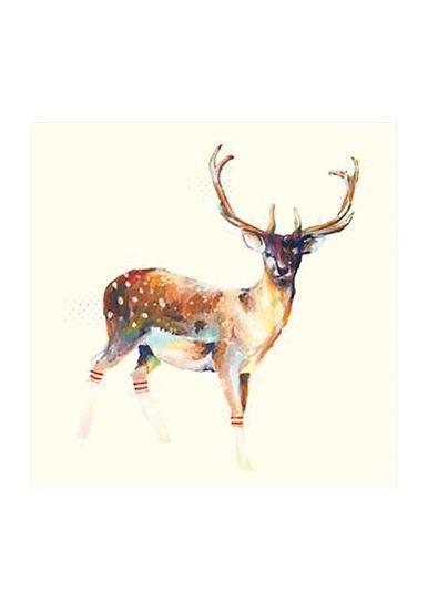 Deer Wearing Gym Socks-Charmaine Olivia-Art Print