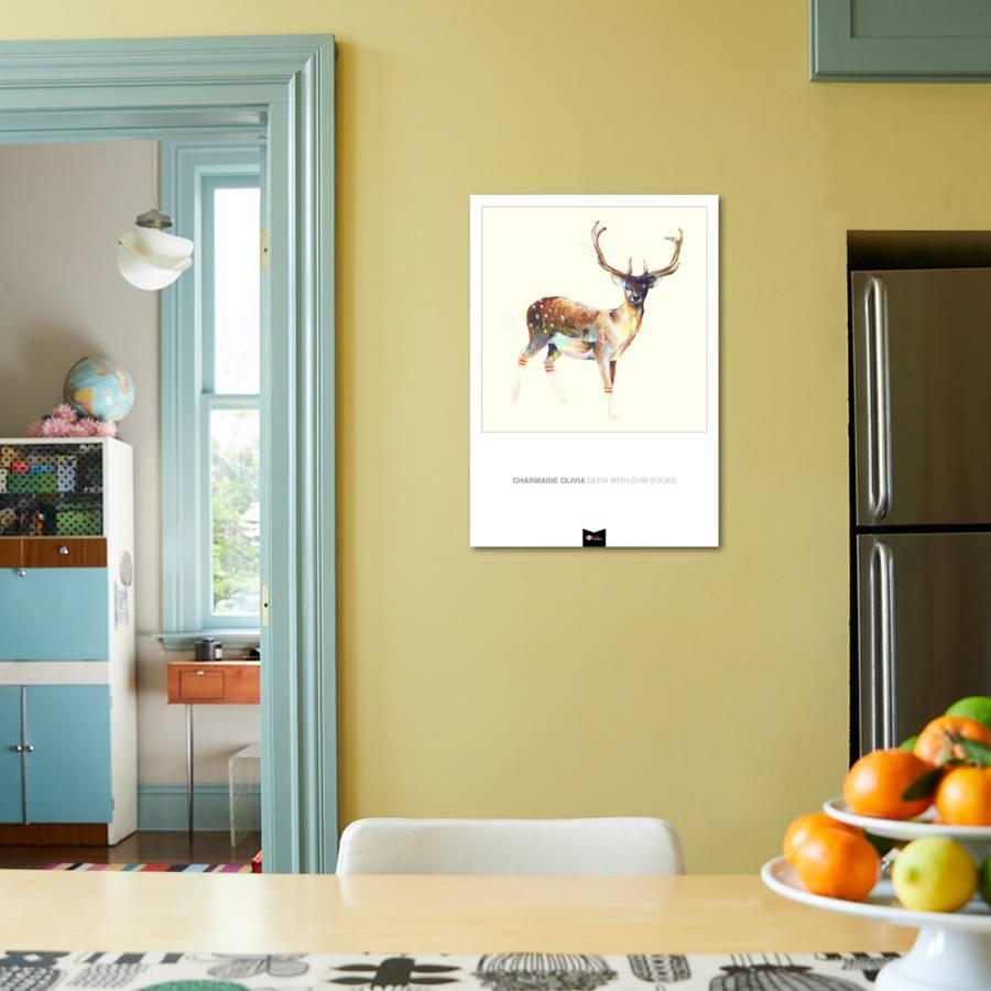 Deer wearing Gym Socks Art Print by Charmaine Olivia | Art.com