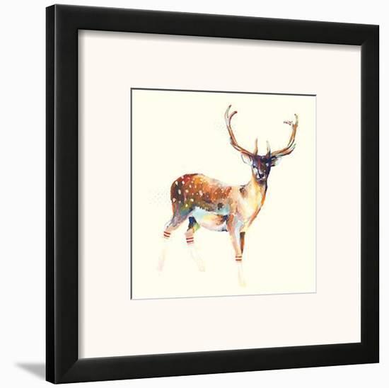 Deer Wearing Gym Socks Framed Art Print by Charmaine Olivia | Art.com