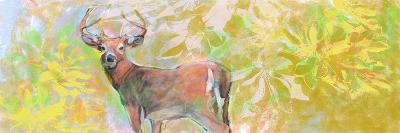 Deer With Magnolia-Sarah Butcher-Art Print