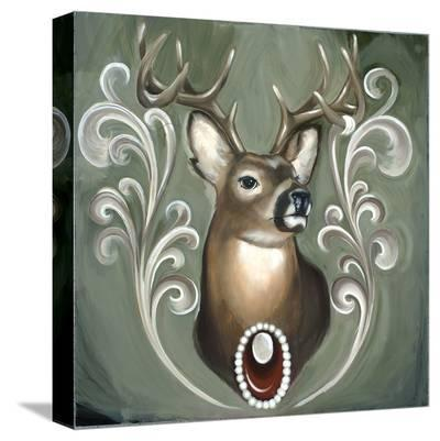 Deer-Thea Fear-Stretched Canvas Print