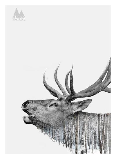 Deer-Clean Nature-Art Print