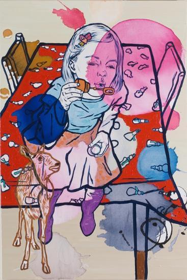 Deerie's Dream, 2009-Nora Soos-Giclee Print