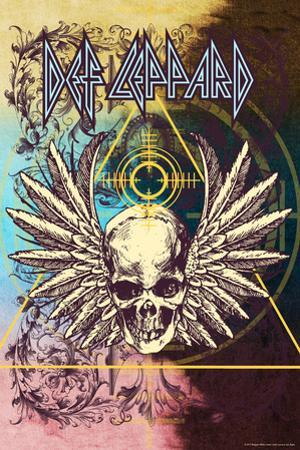 Def Leppard - Winged Skull Collage