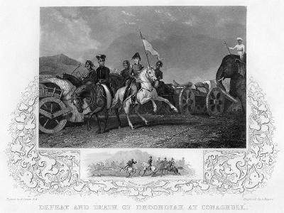 Defeat and Death of Dhoondiah at Conaghull, C19th Century-J Rogers-Giclee Print