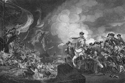 Defeat of the Floating Batteries at Gibraltar, 1782-G Stodart-Giclee Print