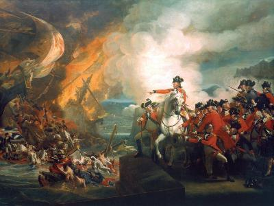 Defeat of the Floating Batteries at Gibraltar, 1782-John Singleton Copley-Giclee Print
