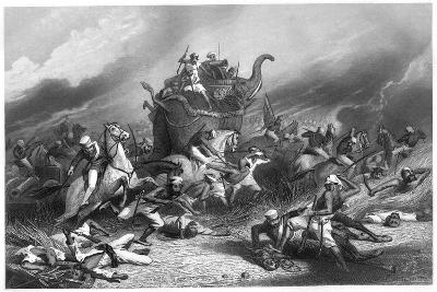 Defeat of the Peishwa's Army before Jhansi by General Rose, April 1858--Giclee Print