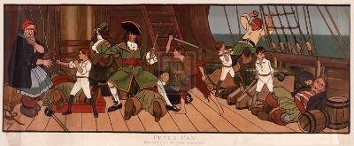 Defeat Of The Pirates-John Hassall-Premium Giclee Print