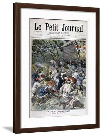 Defeat of the Sakalava, Madagascar, 1898-F Meaulle-Framed Giclee Print