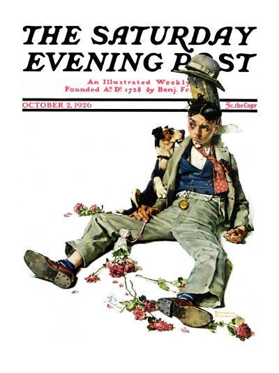 """""""Defeated Suitor"""" Saturday Evening Post Cover, October 2,1926-Norman Rockwell-Giclee Print"""