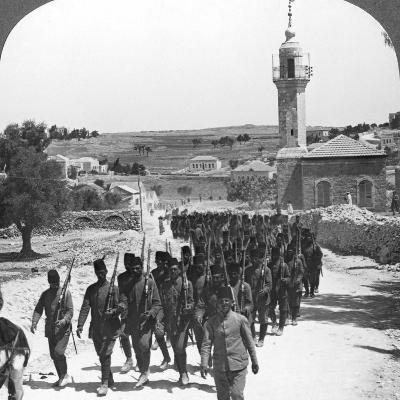 Defeated Turkish Soldiers, Palestine, World War I, C1917-C1918--Photographic Print