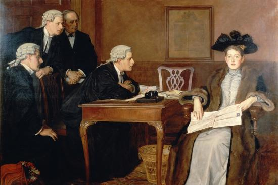 Defendant and Counsel, 1895-William Frederick Yeames-Giclee Print