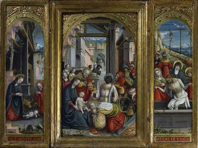 Triptych of the Nativity, the Adoration of the Magi and Jesus Christ's Tomb, 1523