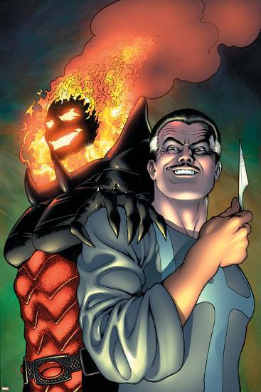 Defenders No.4 Cover: Dr. Strange and Dormammu-Kevin Maguire-Art Print