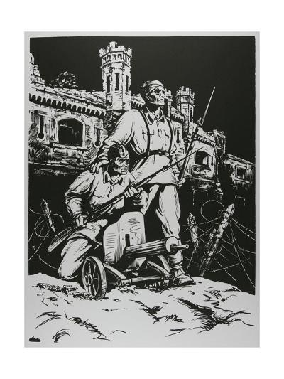 Defenders of the Soviet Union - Soldiers, 1957-Masabikh Akhunov-Giclee Print