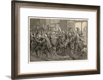 Defenestration of Prague-C.a. Dahlstrom-Framed Giclee Print