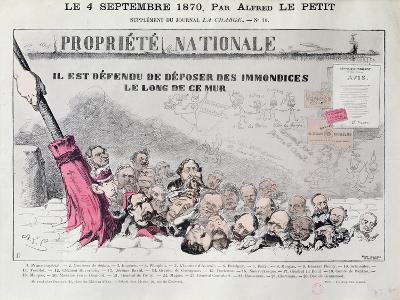 Defense De Deposer Des Immondices Le Long De Ce Mur, Caricature of Second Empire Politicians-Alfred Le Petit-Giclee Print