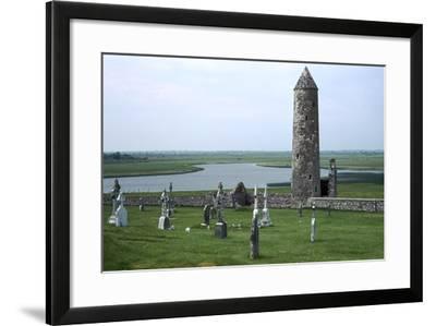 Defensive Celtic Round Tower, 9th Century-CM Dixon-Framed Photographic Print