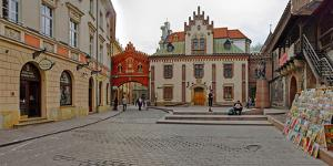 Defensive Walls by Pijarska Street, Krakow, Poland