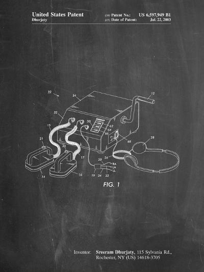 Defibrillator Patent-Cole Borders-Art Print